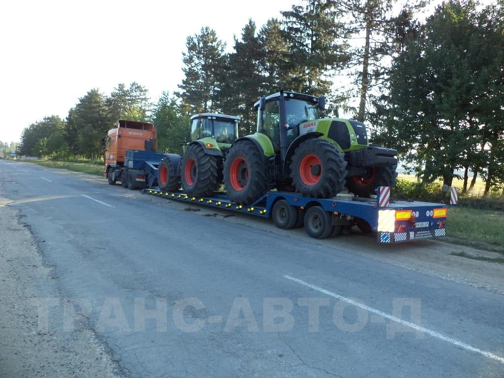 Transportation of agricultural tractors Klas