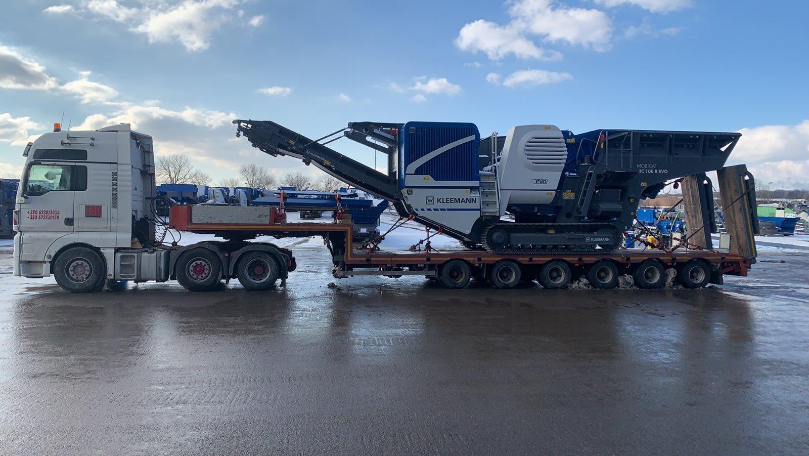Transportation of jaw crusher MC100 R #EVO. Cargo parameters 12x3.20x4.50 -1