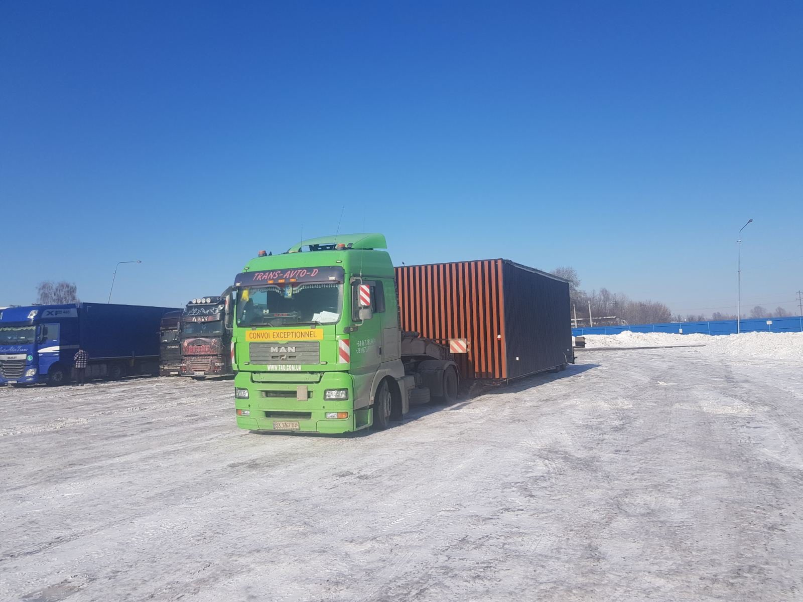 Transportation of the container