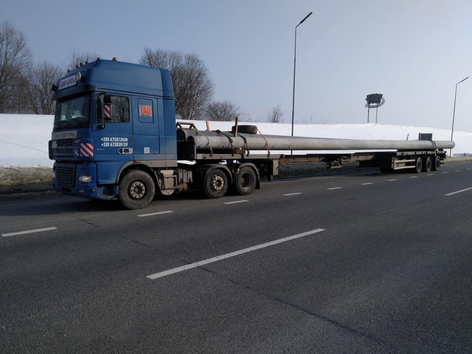 Transportation of pipes