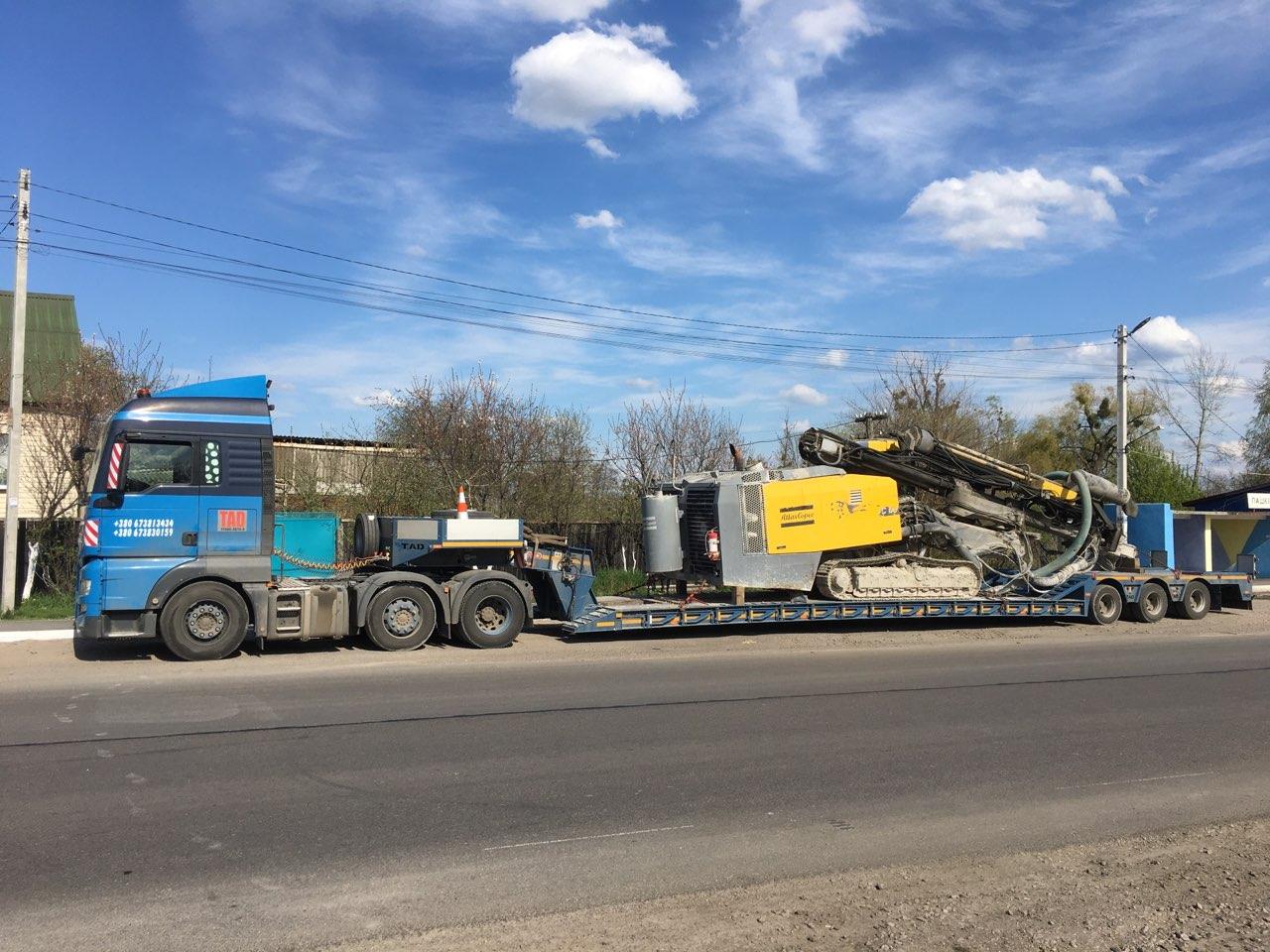 Transportation of road machinery