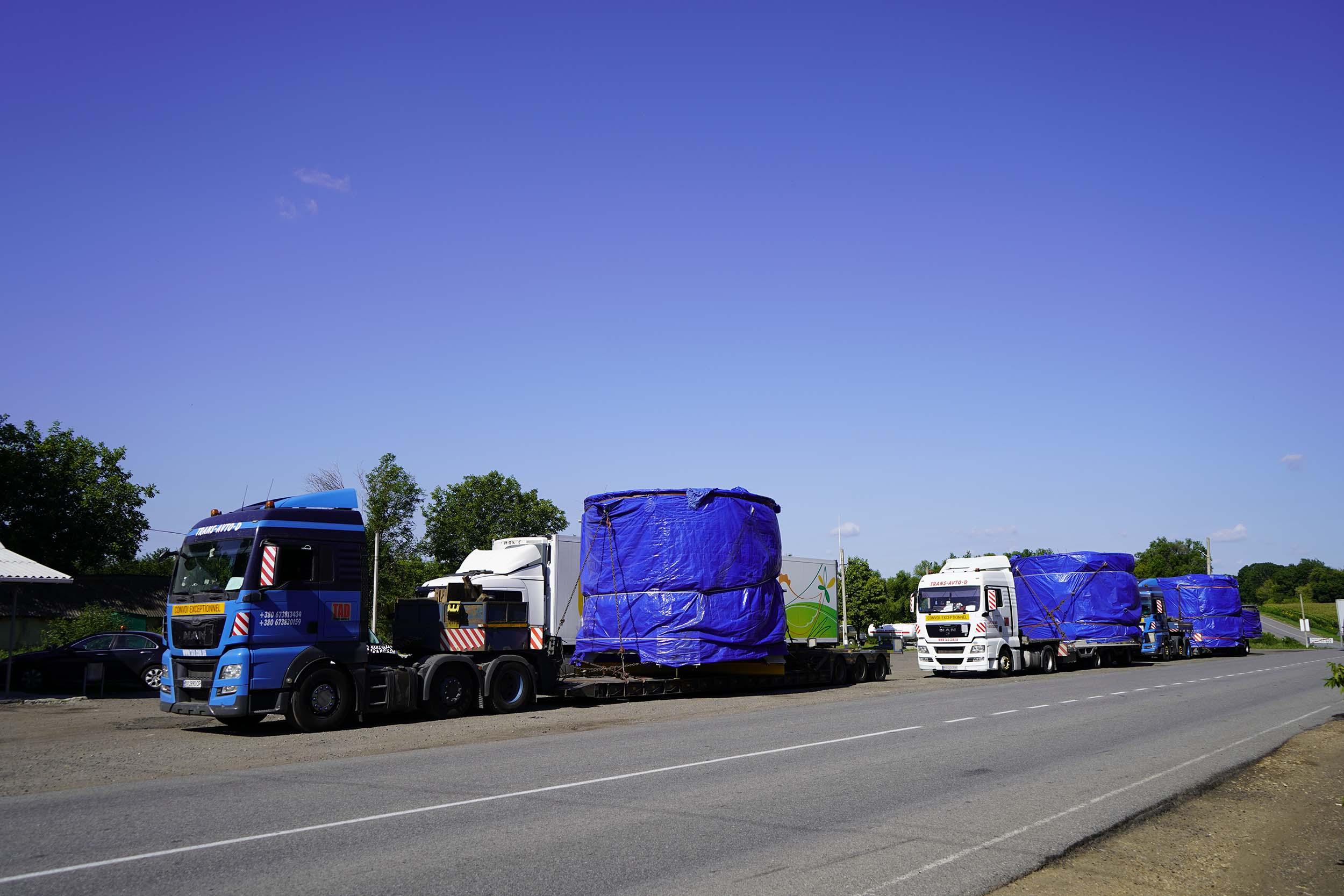 Transportation of industrial equipment in Ukraine