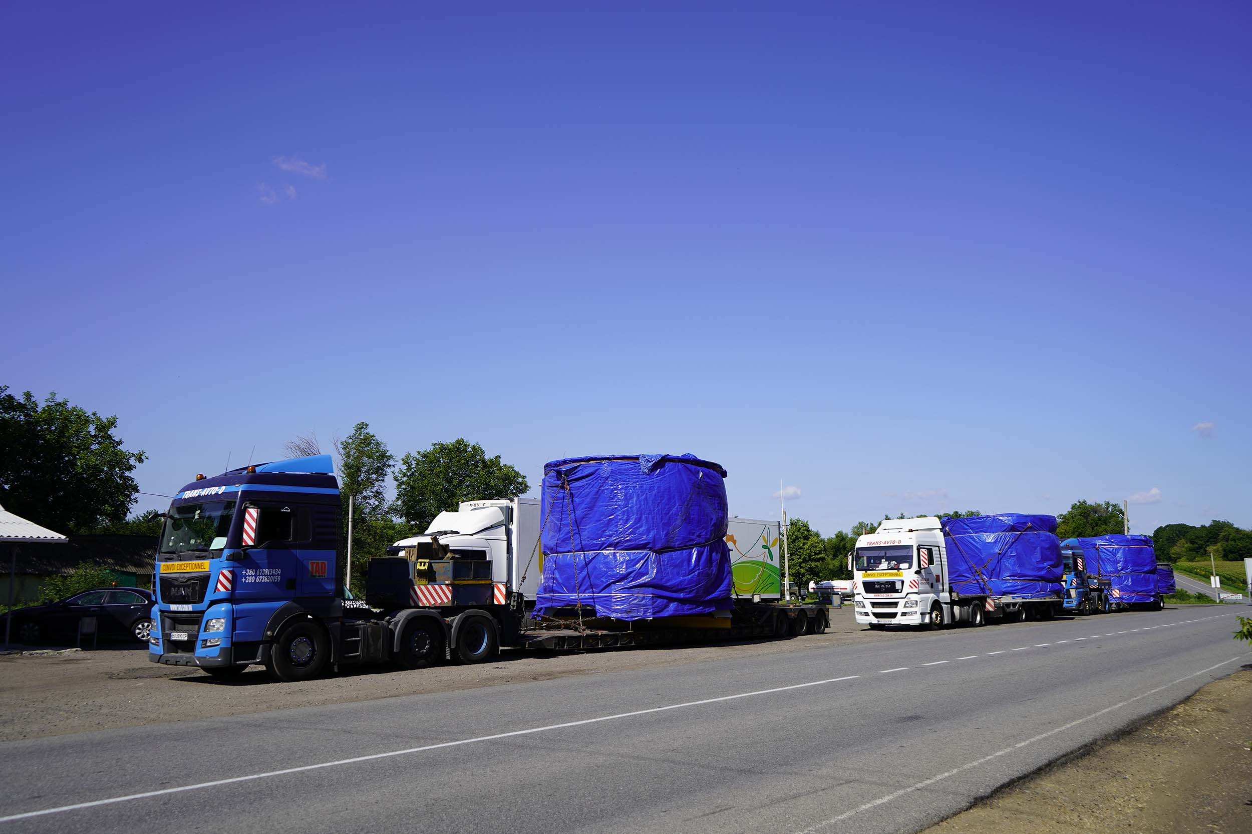 Transportation of industrial equipment in Ukraine