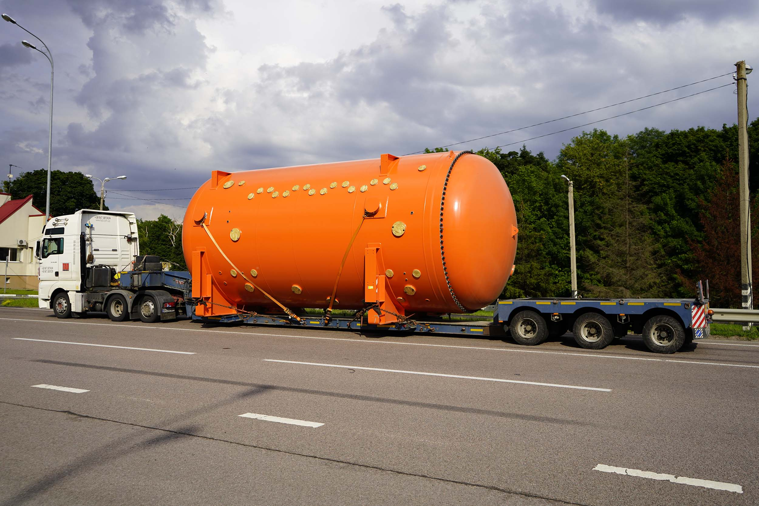 Transportation of industrial containers from Europe