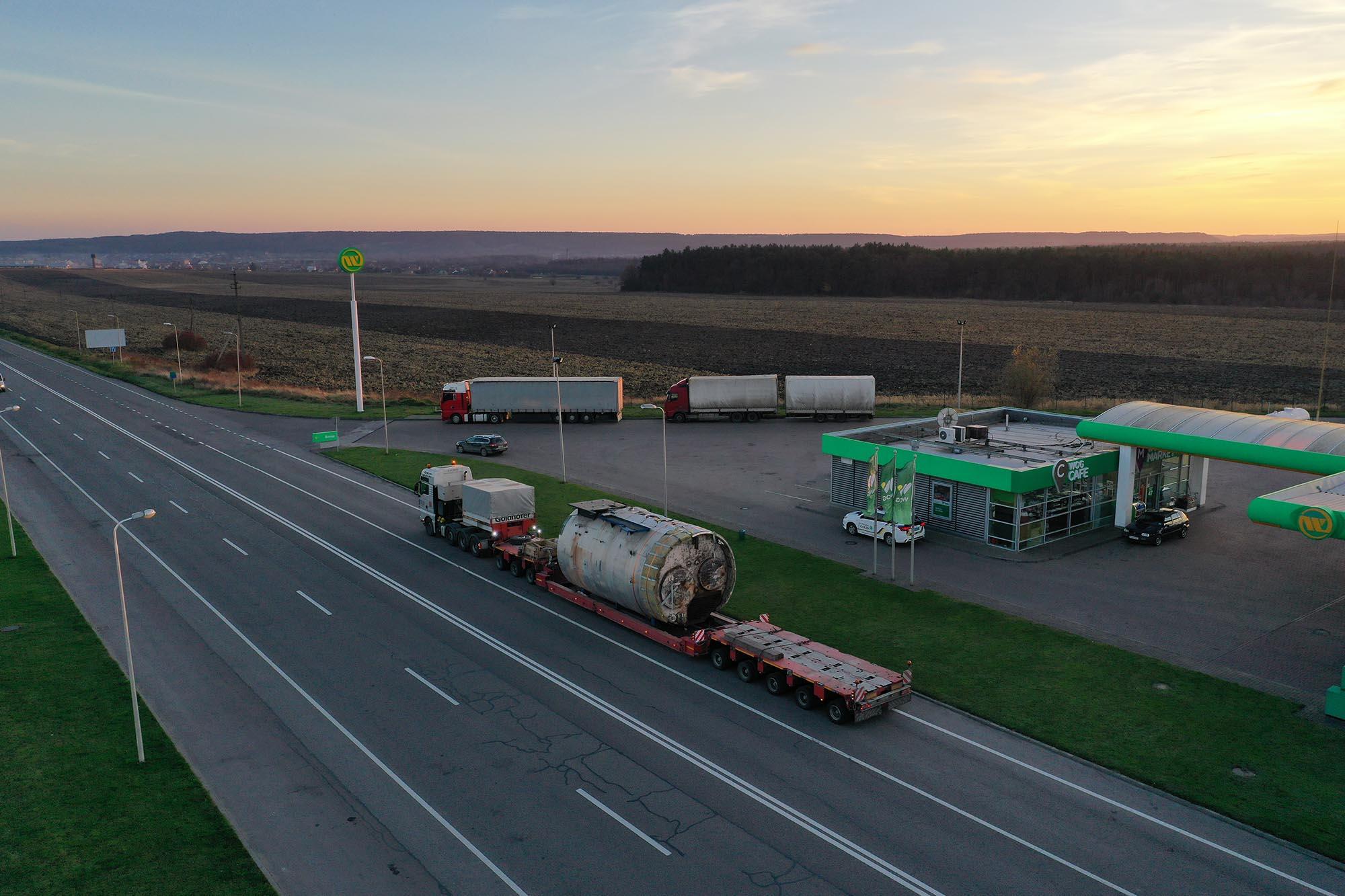 Transportation of industrial boiler equipment