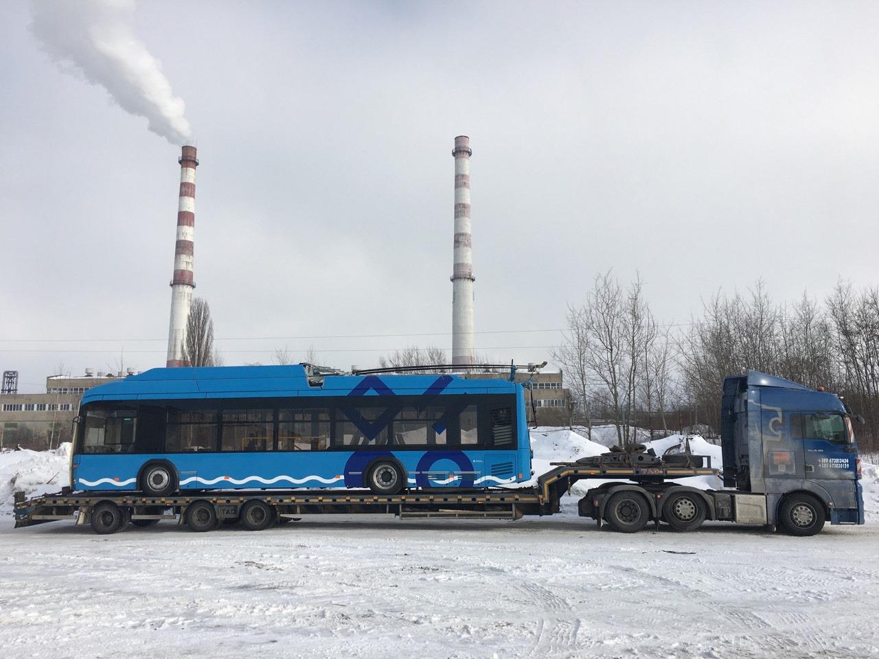 Перевозка троллейбуса по Украине