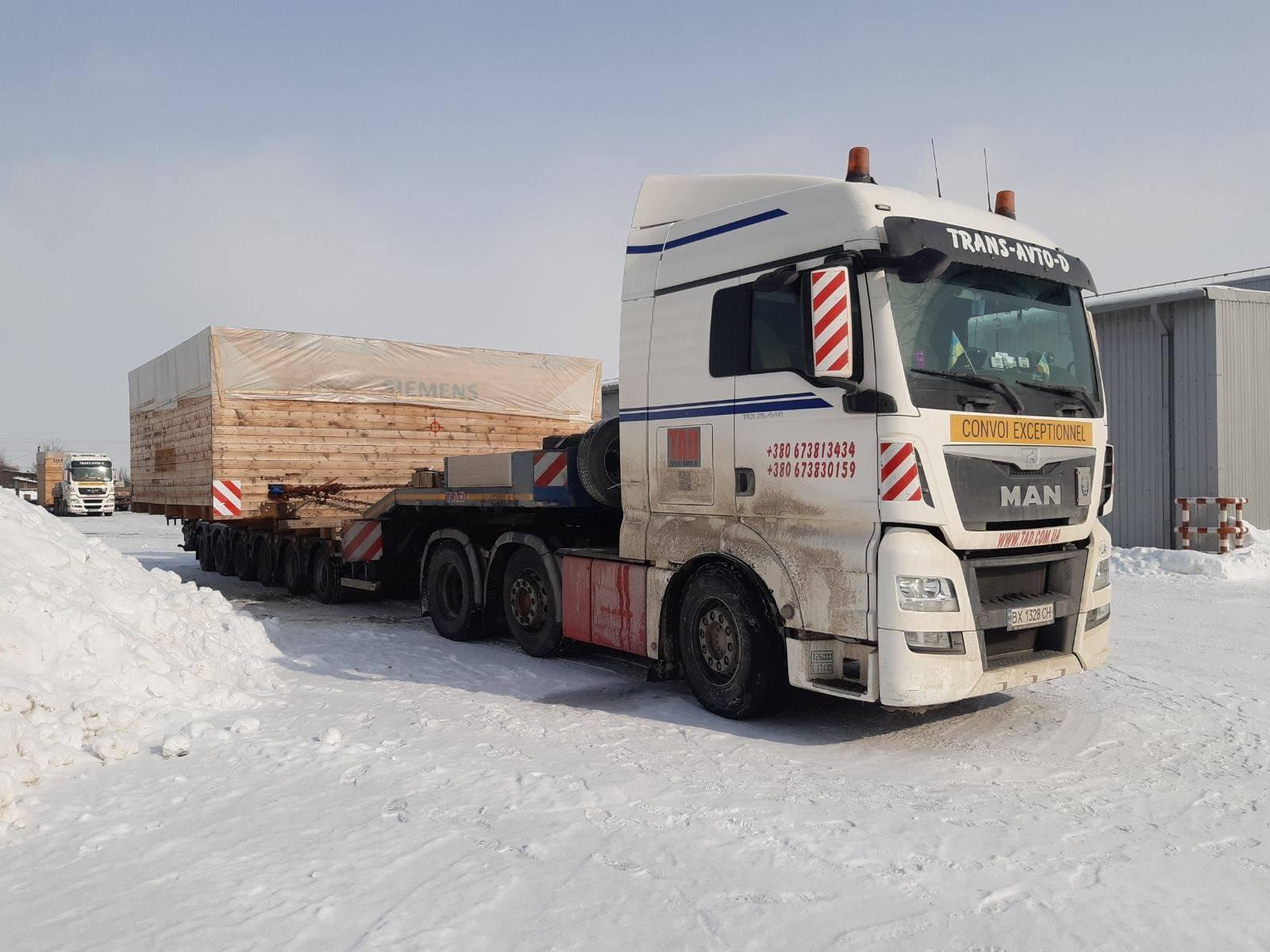 Перевозка широкого промышленного оборудования Siemens по Украине
