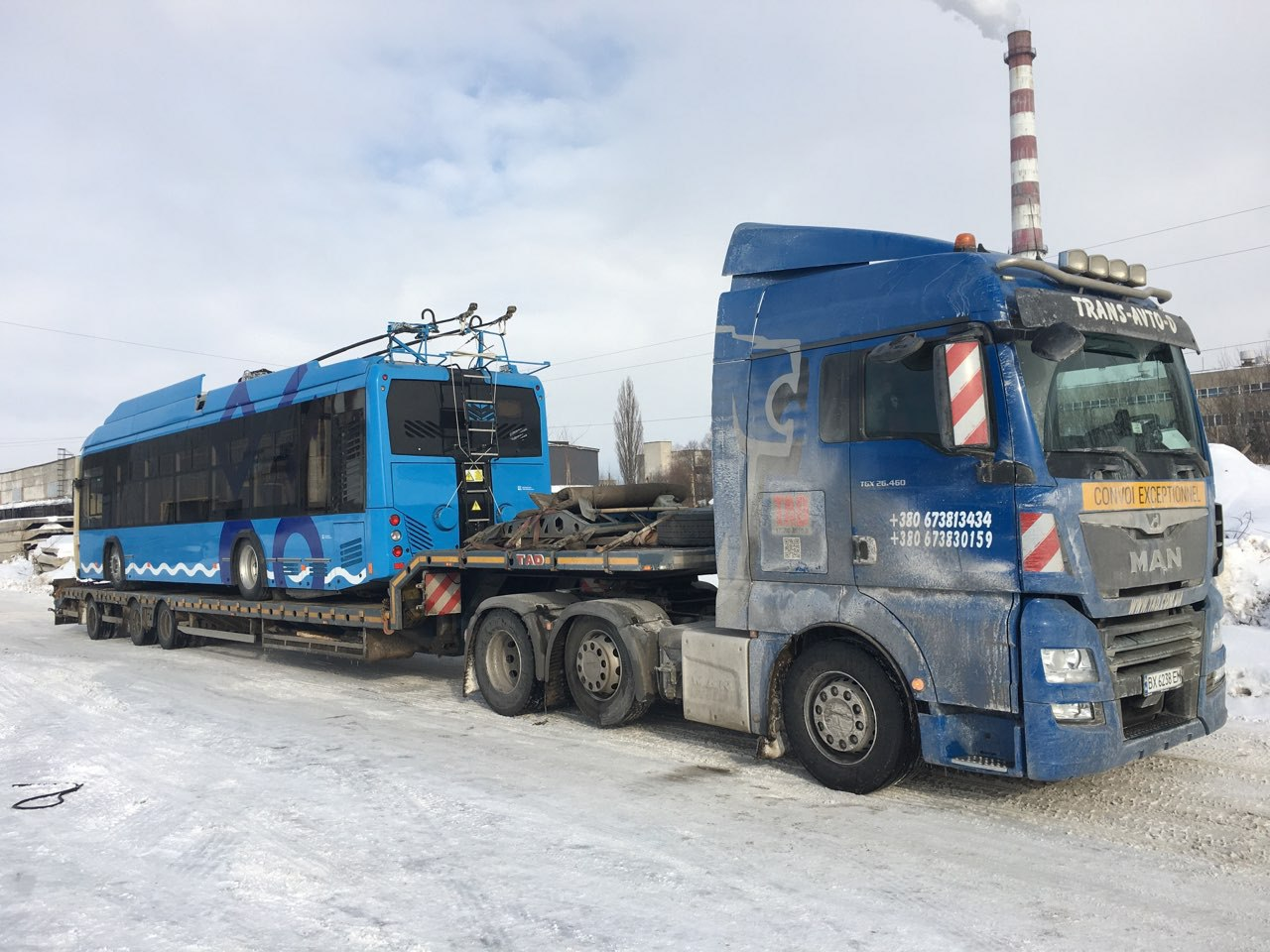 Перевозка троллейбуса по Украине -1